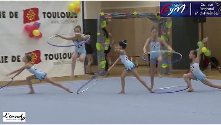 Gymnastique GR DC4 Benjamines: l'ensemble de L'Envol Saint Gaudinois se classe premier