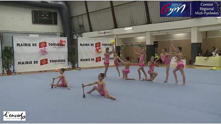 Gymnastique GR Trophée Fédéral C 13 ans et moins: l'ensemble de L'Envol Saint Gaudinois se classe premier @FFGymnastique