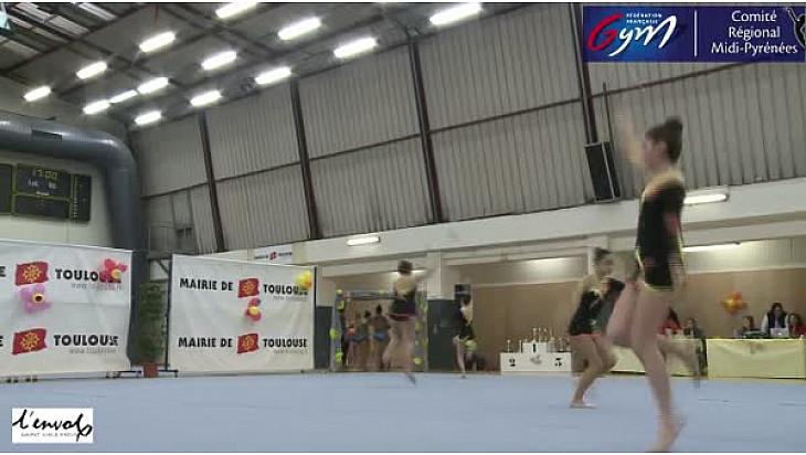 Gymnastique GR Zone DC4 Cad/Jun/Sen: l'ensemble de L'Envol Saint Gaudinois se classe second