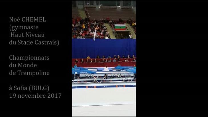 Gymnastique Noé Chemel un occitan plane aux championnats du Monde de Trampoline